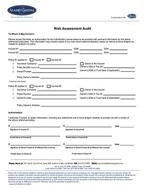 insurance assessment form  Life Insurance Risk Assessment | Alamo Capital